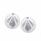 Geometry Stainless Steel Big Gold Round Earrings - Arista Gems