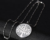 3 Color Tree of Life Stainless Steel Pendant Necklace - Arista Gems