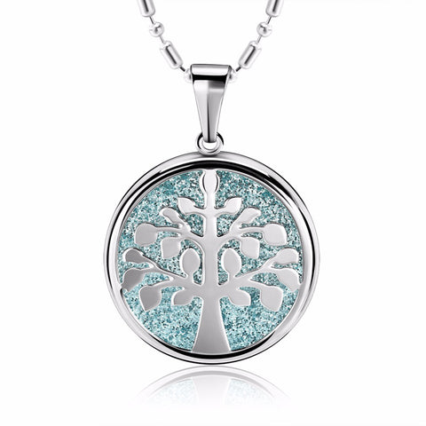 3 Color Tree of Life Stainless Steel Pendant Necklace - seraie
