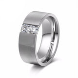 Women's Smooth Silver Color Stainless Steel Ring - Arista Gems