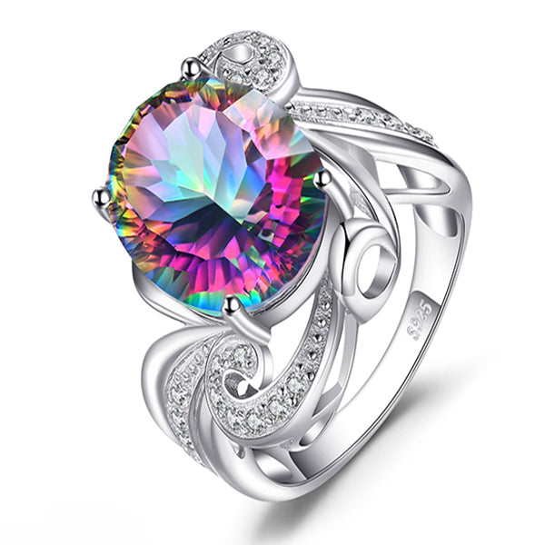Luxury 9.5 ct Genuine Gem Stone Cocktail Ring - Arista Gems