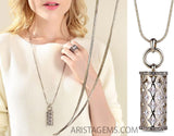 Geometric Long Necklace - Arista Gems