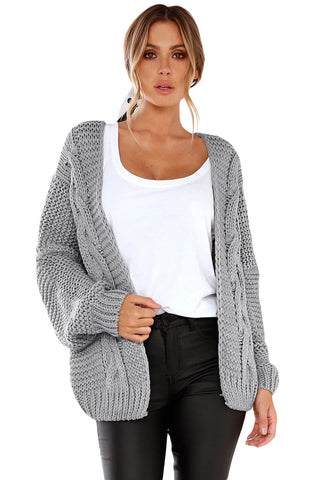 Chunky Wide Long Sleeve Knit Cardigan - Arista Gems