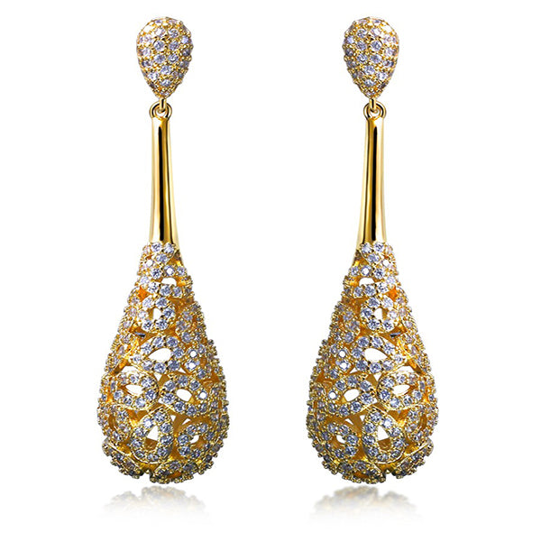 CZ Dangle Earrings - Arista Gems