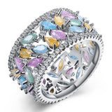 Luxury Multi Color Cubic Zirconia Ring - seraie