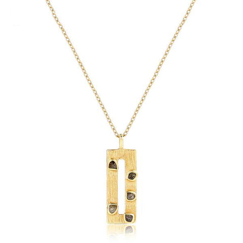 925 Sterling Silver And Gold Handmade Pendant Necklace - Arista Gems