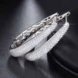 Luxury Crystal Hoop Earrings - Arista Gems
