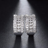 Luxury Small Circle Austrian CZ Earrings - Arista Gems