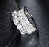 Micro Paved AAA Austrian Cubic Zircon Engagement Ring - Arista Gems