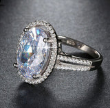 Luxury 6 ct Big Oval Cut AAA Zircon Ring - Arista Gems