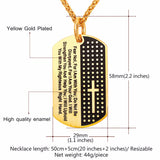 316L Stainless Steel Chain Black Bible Verse Christian Necklace - Arista Gems
