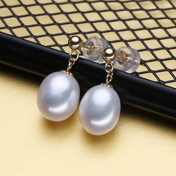 18K Gold Pearl Yellow Gold Stud Earrings - Arista Gems