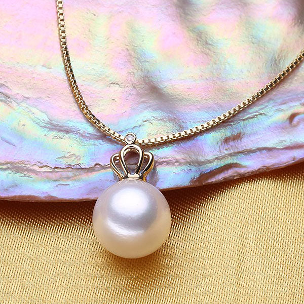 18K Gold Pearl Pendant Necklace - Arista Gems