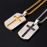 Cross Pendant Necklace With The Lords Prayer - Arista Gems