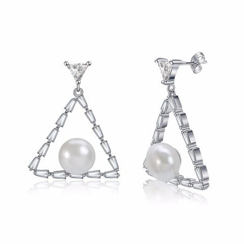 Women Stud Triangle Shape Earrings - Arista Gems