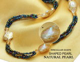Bohemian Charm Design Pearl Necklace - Arista Gems