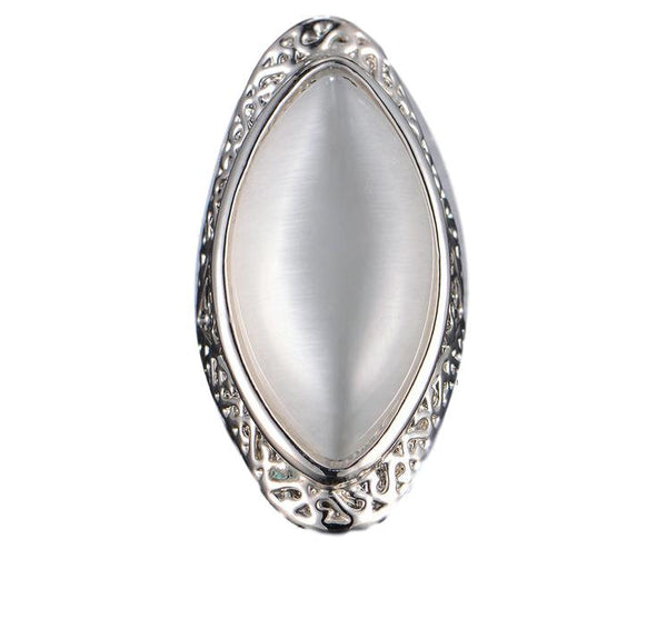 White Opal Statement Ring - seraie
