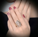 Hollow out Crystal Ring - Arista Gems