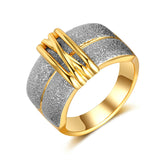 Mix Color Two Tone Gold Ring - Arista Gems