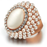 Little Crystal Pearl Cat's Eye Ring - Arista Gems