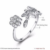 Trendy Leaves Design Solid 925 Sterling Silver Ring - Arista Gems