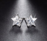 Sterling Silver 0.8ct Cubic Zircon Star Stud Earrings - Arista Gems