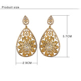 Water Drop Dangle CZ Earrings - Arista Gems