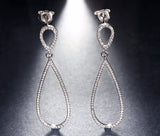 Luxury Water Drop Shape 925 Sterling Silver Earrings - Arista Gems