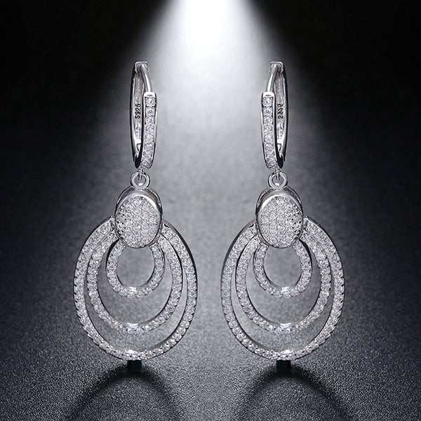 Genuine Sterling Silver Dangle Earrings - Arista Gems
