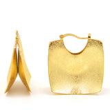 Big Square Statement Hoop Earrings - Arista Gems