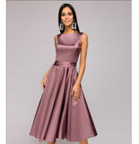 vintage style knee-length Dress - Arista Gems