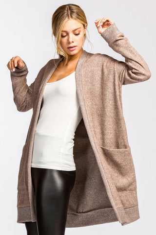 Arista Gems Super Soft French Terry Knit Cardigan - Arista Gems