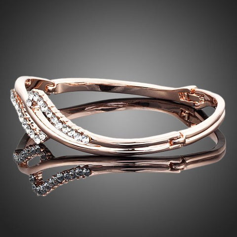 Arista Gems Crystal Rose Gold Color Bangle