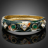 18K Real Gold Plated Austrian Crystal Bangle Bracelet - Arista Gems
