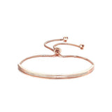 Women's  Bar Slider Brilliant CZ Bracelet - Arista Gems