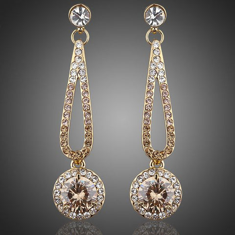 Arista Gems Long Cubic Zirconia Drop Earrings