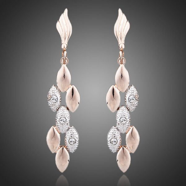 Rhinestones Feast Tassels Earrings - Arista Gems
