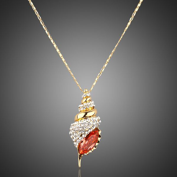 18K Real Gold Plated Austrian Crystal Necklace - Arista Gems