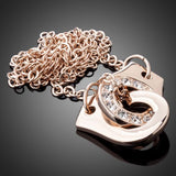 18K Rose Gold Plated Pendant Necklace - Arista Gems