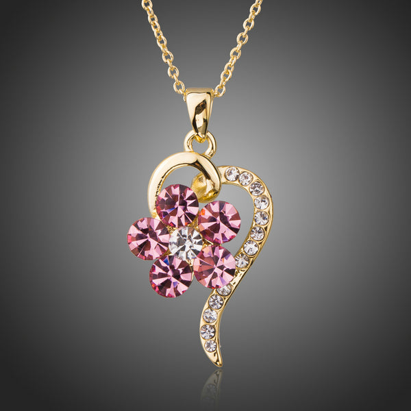 Twisted Heart Pendant Necklace - Arista Gems
