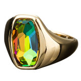 Gold Color Gradient Bright Color Stellux Austrian Crystal Ring - Arista Gems