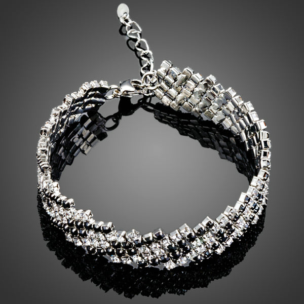 Clear Tiny Cubic Zirconia Paved Bracelet  - Arista Gems
