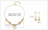 Round Ball Gold & Silver Color Jewelry Set - Arista Gems