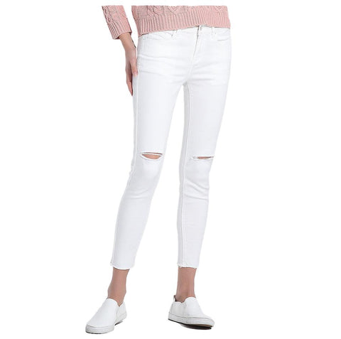 women's distressed ripped knee jeans - Arista Gems