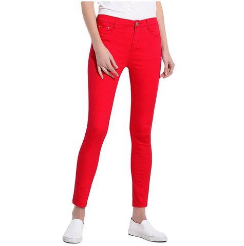 Women's Candy Color Slim Fit Strechy Pants - Arista Gems