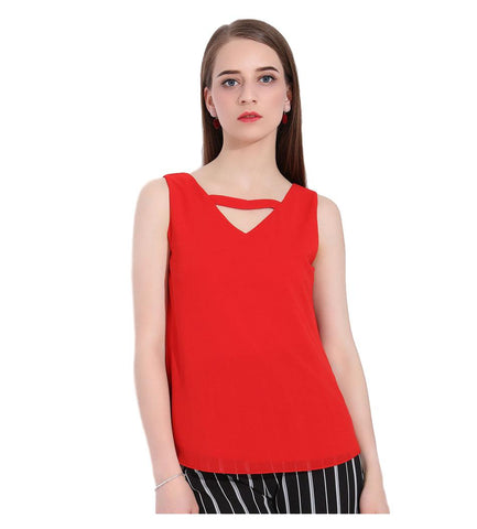 Women's Sleeveless Chiffon Backless Shirt - Arista Gems