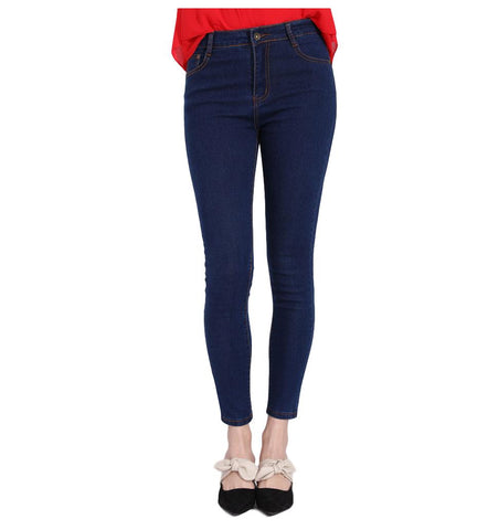 High Waist Skinny Pencil Causal Jeans - Arista Gems