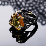 Vintage Black Champaigne Colour Ring - Arista Gems