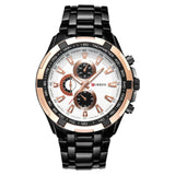 Stainless Steel Casual Quartz Watch - Arista Gems