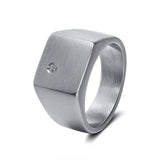 Solid 316L Stainless Steel Ring - Arista Gems